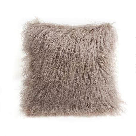 Perna cu piele de oaie LW Tibetan 50x50cm Velvet Birch - Evambient ASK - Perne si fete de perne