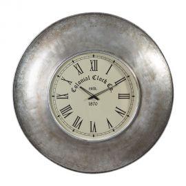 Ceas de perete Colonial Clock 82cm, nickel antic - Evambient SX - Decoratiuni perete