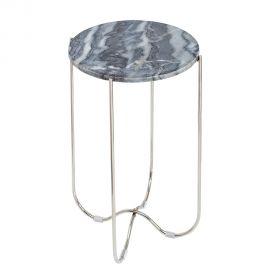 Masuta laterala Noble marmura gri/ argintiu - Evambient VC - Masute Living