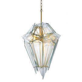 Candelabru design LUX Shard auriu/ transparent