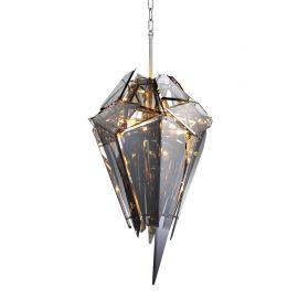 Candelabru design LUX Shard nickel/ fumuriu