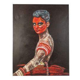 Tablou stil etnic Africano cara roja, 120x150cm