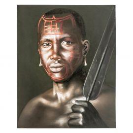 Tablou stil etnic NEGRO LANZA, 120x150cm