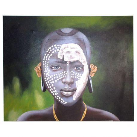 Tablou decorativ Negro cara puntos, 120x150cm