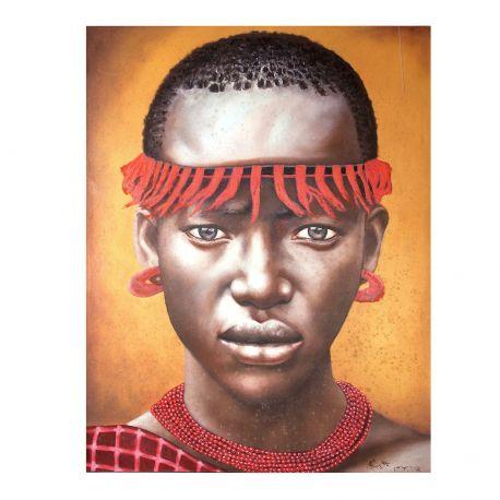 Tablou decorativ Negro cinta roja, 140x180cm