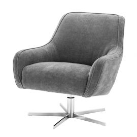 Fotoliu pivotant design LUX Serena, clarck grey