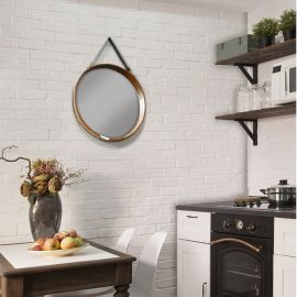 Oglinda suspendata design vintage Porto, 50cm - Evambient SV - Oglinzi