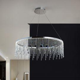 Lustra LED moderna cristal Anastasia, 80cm