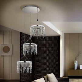 Lustra LED cu 3 pendule Anastasia, 62cm