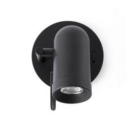 Aplica LED stil modern minimalist ORLEANS 1L negru - Faro Barcelona - Aplice cu Spot