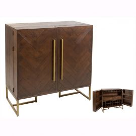 Bar-dulap minibar design industrial vintage Bruno