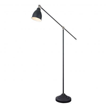 Lampa de podea cu brat articulat Domino, negru