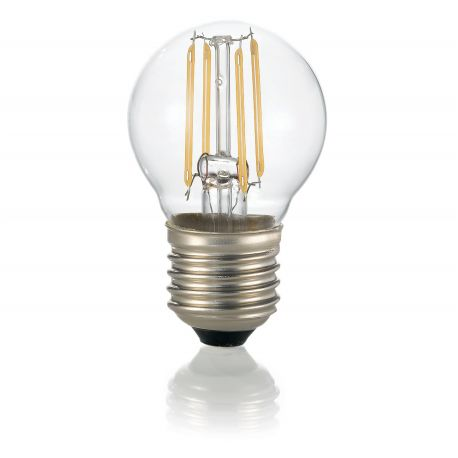 Bec LED E27 Sfera TRASPARENTE 3000K - Evambient IdL - Becuri E27
