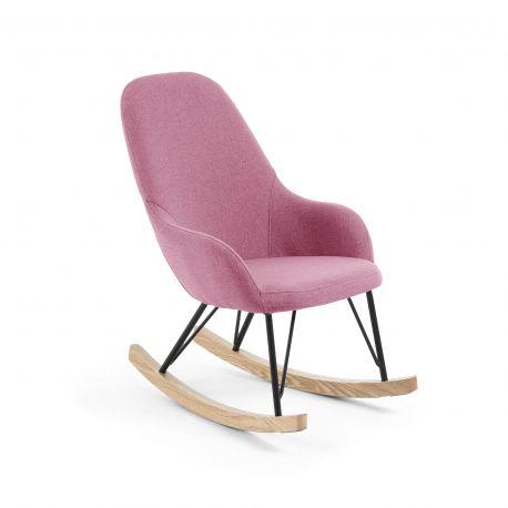 Scaun balansoar pentru copii IVETTE roze - Evambient Barcelona Living - Articole pentru copii