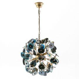 Lustra metalica Metal Golden/Agate Blue