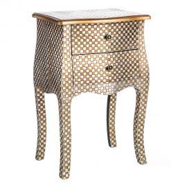 Masuta laterala design vintage ORSAY, argintiu/ auriu