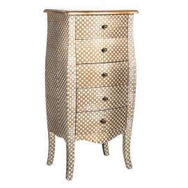 Dulapior cu sertare design vintage ORSAY, argintiu/ auriu