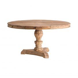 Masa rotunda din lemn masiv, design colonial Elk, 150cm