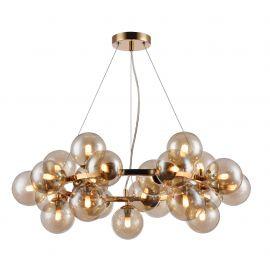 Lustra deosebita cu 25 de surse de lumina Dallas, auriu/ chihlimbar - Evambient MY - Candelabre, Lustre