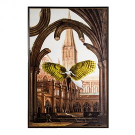 Tablou decorativ IGLESIA verde/ crem, 116x175cm