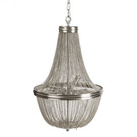 Candelabru elegant design clasic Olimp 43cm, argintiu