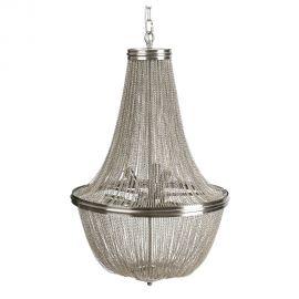 Candelabru elegant design clasic Olimp 53cm, argintiu