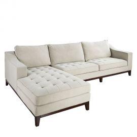 Canapea eleganta cu coltar pe stanga CHAISE LONGUE BEIGE - Evambient DZ - Coltare