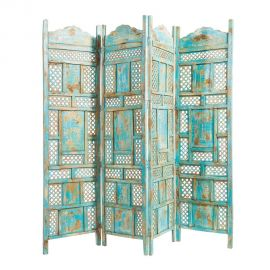 Paravan decorativ design vintage TURQUESA
