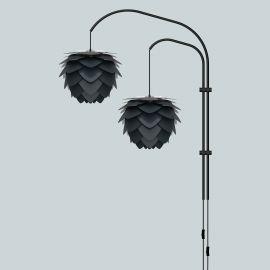 Aplica moderna dubla Aluvia 40cm, antracit