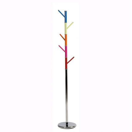 Cuier din metal GEO, crom/ multicolor