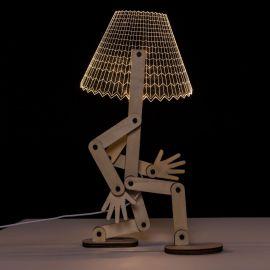 Veioza design modern LED, MDF Natur - Evambient SX - Veioze