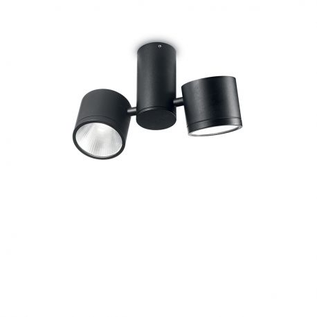Plafoniera LED exterior design modern SUNGLASSES PL2 negru