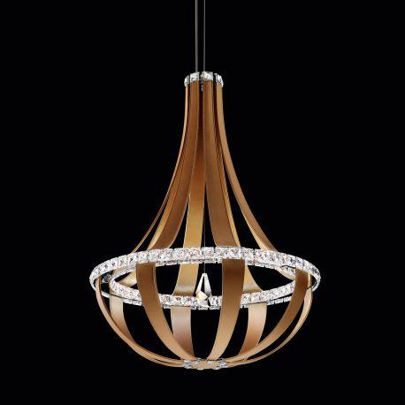 Lustra LUX cristal Swarovski Crystal Empire 69cm, LED 3000K - LUX Swarovski Lighting - Lustre Cristal Swarovski