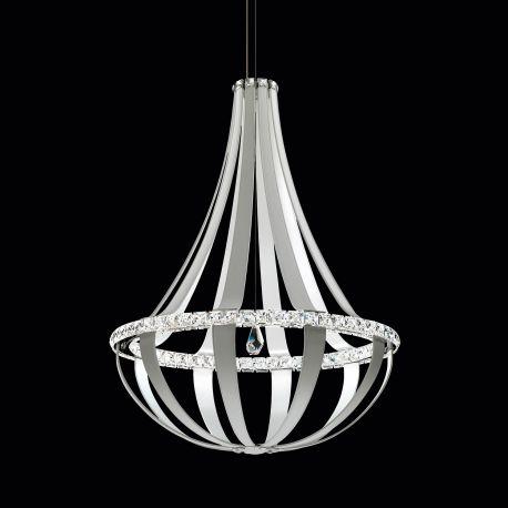 Lustra LUX cristal Swarovski Crystal Empire 85cm, LED 4000K - LUX Swarovski Lighting - Lustre Cristal Swarovski