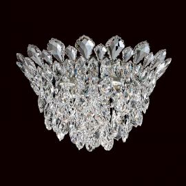 Lustra aplicata design LUX cristal Heritage/ Spectra, Trilliane 43cm, H-27cm - Lux Lighting Schonbek - Plafoniere Cristal Sch...