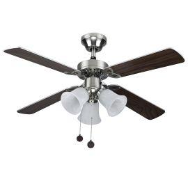 Lustre cu ventilator - Lustra cu ventilator HORNET nickel