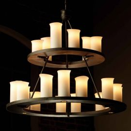 Candelabru masiv din fier forjat cu 21 surse de lumina, HL 2560 - Robers - Lustre, Candelabre Fier Forjat