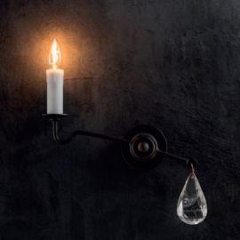 Aplica din fier forjat si cristal de stanca WL 3645 - Robers - Aplice perete Fier Forjat