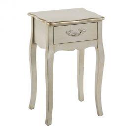 Noptiera eleganta cu un sertar, argintie, FRANCÉS - Evambient SX - Noptiere
