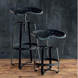 Scaun cu inaltime reglabila, Barstool din fier forjat H 16935 - Robers - Scaune Bar