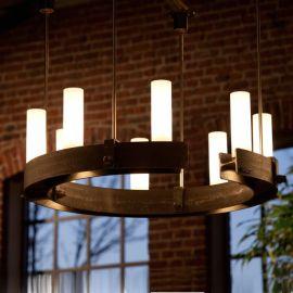 Candelabru din fier forjat cu 8 surse de lumina HL 2548 - Robers - Lustre, Candelabre Fier Forjat