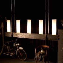 Candelabru din fier forjat cu 5 surse de lumina HL 2547 - Robers - Lustre, Candelabre Fier Forjat