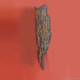Aplica lumina ambientala design scoarta de copac din aluminiu turnat WL 3661, 74cm - Robers - Aplice perete Fier Forjat
