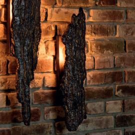 Aplica lumina ambientala design scoarta de copac din aluminiu turnat WL 3662, 60cm - Robers - Aplice perete Fier Forjat
