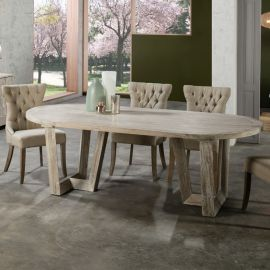 Masa dining din lemn design deosebit Morgan - Evambient SV - Mese dining