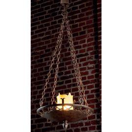 Candelabru din fier forjat realizat manual in stil gotic HL 2424 - Robers - Lustre, Candelabre Fier Forjat