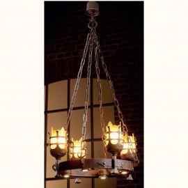 Candelabru din fier forjat realizat manual in stil gotic HL 2422-N - Robers - Lustre, Candelabre Fier Forjat