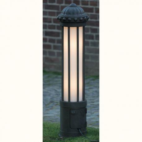 Stalp cu priza, iluminat exterior din fier forjat, inaltime 111cm AL 6856 - Robers - Stalpi Fier Forjat