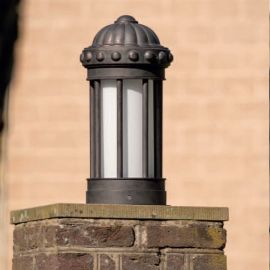 Stalp iluminat exterior din fier forjat, inaltime 54cm AL 6857