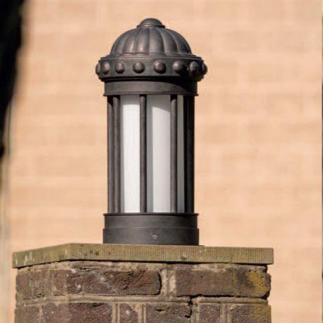 Stalp iluminat exterior din fier forjat, inaltime 54cm AL 6857 - Robers - Stalpi Fier Forjat